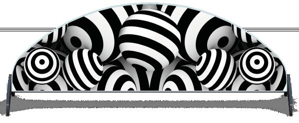 Fillers > Half Moon Filler > Striped Circles