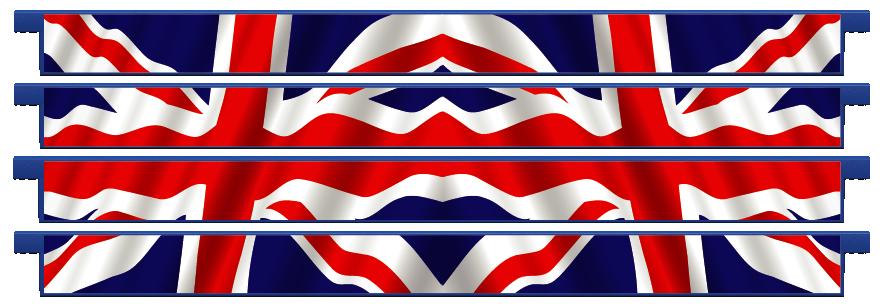 Planks > Straight Plank x 4 > United Kingdom Flag