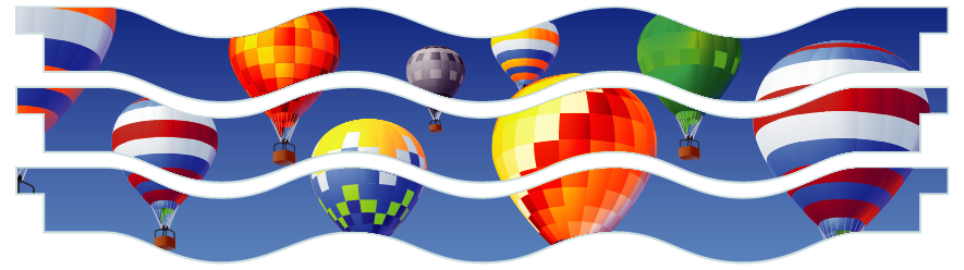 Planks > Wavy Plank x 3 > Hot Air Balloons