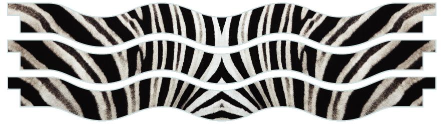 Planks > Wavy Plank x 3 > Zebra Skin