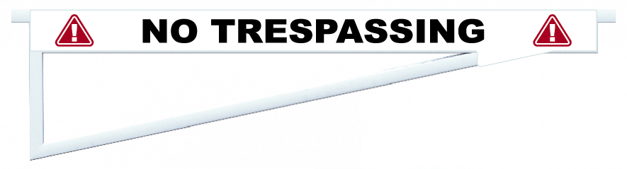 Planks > Barrier Plank > No Trespassing