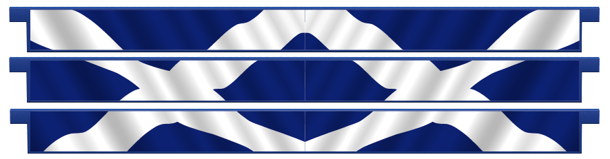 Planks > Straight Plank x 3 > Scottish Flag