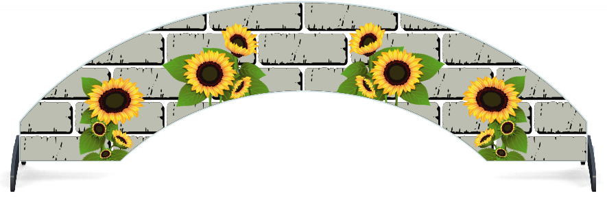 Fillers > Arch Filler > Sunflowers