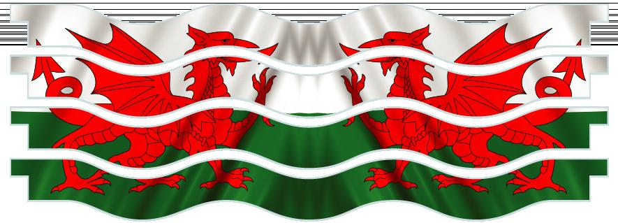 Planks > Wavy Plank x 4 > Welsh Flag