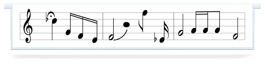 Fillers > Hanging Solid Filler > Music Notes