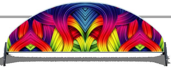 Fillers > Half Moon Filler > Rainbow Ribbons