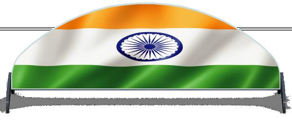 Fillers > Half Moon Filler > Indian Flag