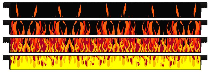 Planks > Straight Plank x 4 > Hot Rod Fire