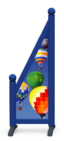 Wing > Sloping Printed > Hot Air Balloons
