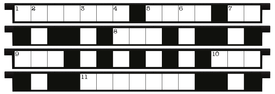 Planks > Straight Plank x 4 > Crossword