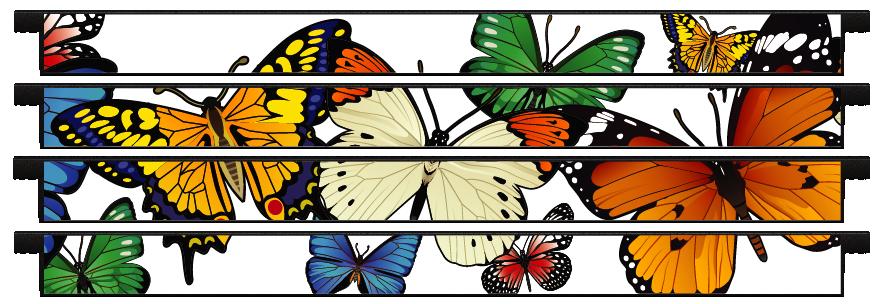Planks > Straight Plank x 4 > Butterflies