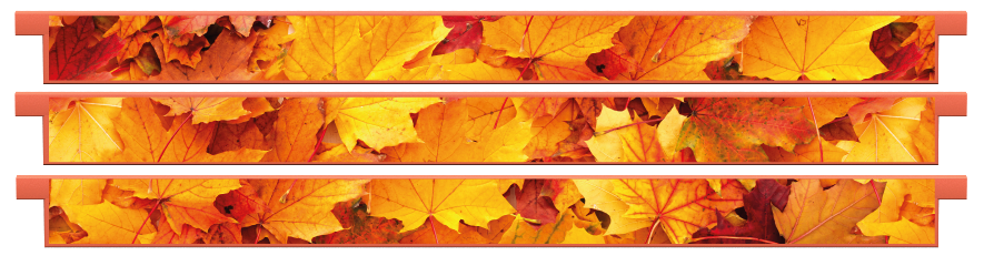 Planks > Straight Plank x 3 > Autumn Leaves