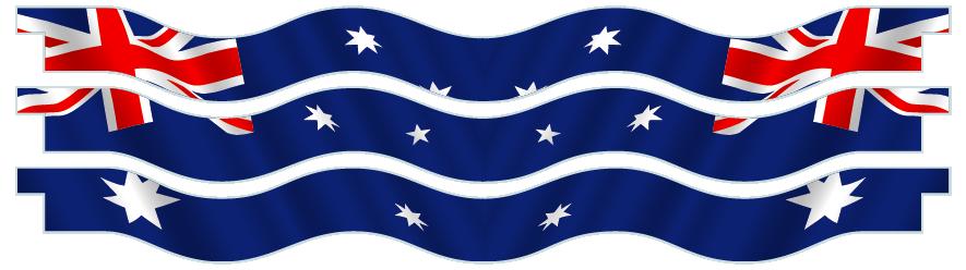 Planks > Wavy Plank x 3 > Australian Flag