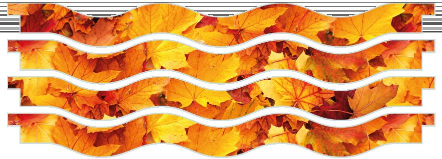 Planks > Wavy Plank x 4 > Autumn Leaves