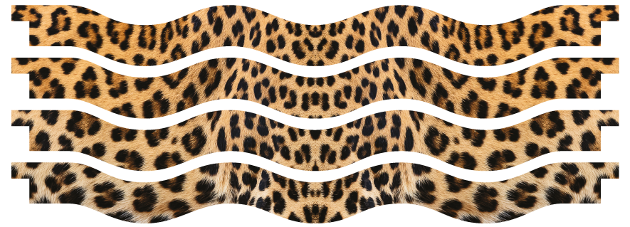 Planks > Wavy Plank x 4 > Leopard Skin