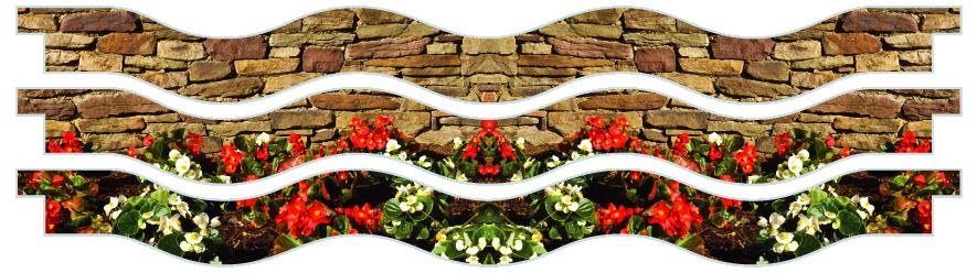 Planks > Wavy Plank x 3 > Flowerbed Wall