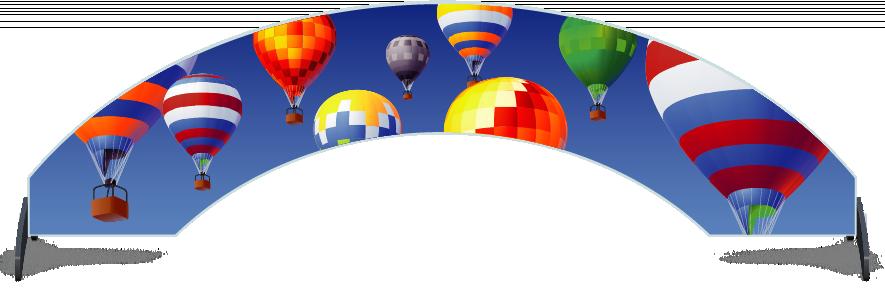 Fillers > Arch Filler > Hot Air Balloons
