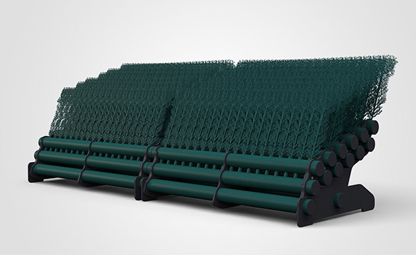 6 Layer Brush 3mtr - Dark Green